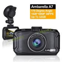 Free Gift E-prance 2014 New Original G90 Car DVR Camera Ambarella A7 Full HD 1920*1080P 30FPS 170 Degree Night Vision  WDR SOS