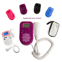 New colorful case! Ultrasound Fetal Doppler SH-500D+ 2.0MHz Probe LCD Prenatal Detector Fetal Heartbeat Baby Monitor Free Ship