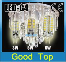 5pc High Power led G4 12V 3W/6W/5W G4 Led Lamp Replace 40W halogen light 360 Angle LED Bulb Lamps lights& lamp g4 led(China (Mainland))