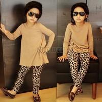 Good New 2-7 Years baby Girls Leggings Children Pants Children Kids Leopard Elasticated Trousers B16 SV008351