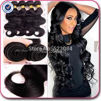 6A peruvian virgin hair body wave natural black hair 3 pcs free shipping cheap peruvian hair peruvian body wave human hair