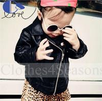 Autumn Orignal Brand Leather Jacket Toddler Baby Girls Coat Girl Kids Jacket Infantil Baby Clothing Kids Leather Jacket