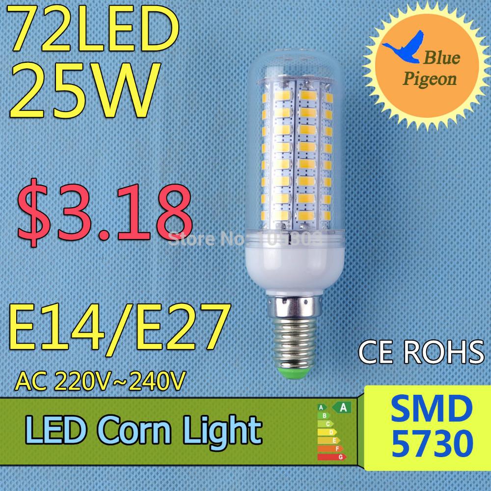 E14 led led lamp 220V 240V 3w 5w 6w 7w 9w 12w 15w 18w 25w SMD 5730 LED Corn Led Bulb Christmas Chandelier Candle Lighting(China (Mainland))