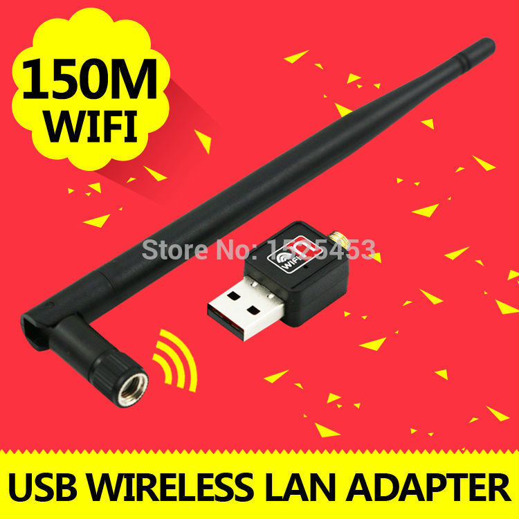 Mini USB wi-fi wi fi Wifi Router 150Mbps Wireless Adapter 150M Computer LAN Card 802.11n/g/b Antenna For Laptop With Package(China