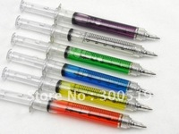 OF001 Syringe pen 6 COLORS Ball point pen promotion Gift pen White box packing 100pcs/lot Free Shipping