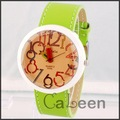 Unisex WOMAGE Brand Sport  Unique Concept Big Colorful  Pencil Watch PU Leather Quartz Watch Drop Shipping   9329