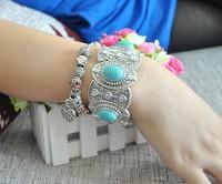 Chinese Miao Silver Bracelet Vintage Tibetan Silver bracelets Tibetan Jewelry Charm Bracelets
