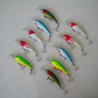 Free shipping,New arrival, Fishing Lure, hard plastic fish,  Minnow, 5g/7cm, 10pcs/lot