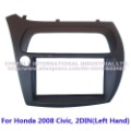 Double Din Special Car Dash Kit, Audio Frame, Fascia, Stereo Kit for Honda 2008 Civic, 2 DIN(Left Hand)-FN model, Europe Version
