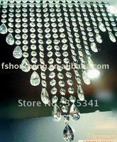 acrylic crystal garland for wedding tree +free bead drop