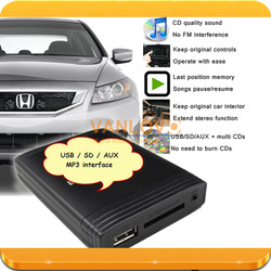 Digital CD Changer USB SD AUX MP3 Interface for newer Honda without Navigation (GIFT 4GB USB flash drive)(China (Mainland))