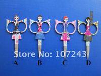 Free Shipping--beauty scissors in stainless steel,gift scissors,18 pcs/lot