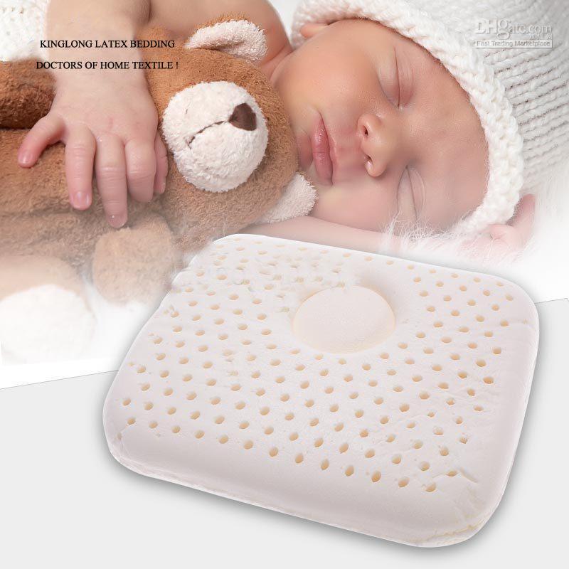 Hot vente 100% oreiller en latex naturel/support en forme de velours oreillers nouveau né, ours caricature//oreiller bébé, livraison gratuite