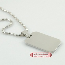 Free shipping, Men's Stainless Steel Pendant Blank, Oblong Dog Tag With Necklace, Logo Printing,Customize,wholesale WP503(China (Mainland))