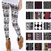 Free shipping  new style Snowflake Christmas deer Leggings/snow leggings,Pantyhose cotton cashmere knit leggings 7 styles