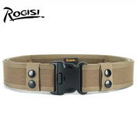 ROGISI MOLLE Outdoor Belt Men High Strength Tactical  Tame Belt 130*5CM Black Brown ACU Mud