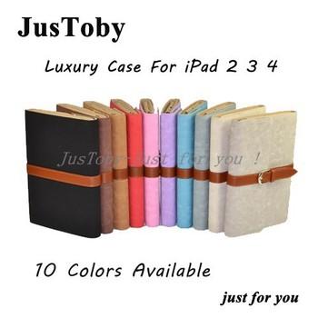 Luxury Designer Fashion Case For iPad 2 3 4,Top Qualtiy PU Leather Stand Case For ipad 4/ ipad 3/ ipad2,10pcs/l DHL Freeship