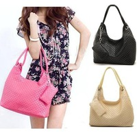 Hot Wholesale Price Dropshipping Korean style Lady Hobo PU leather handbag Fashion shoulder bag Black