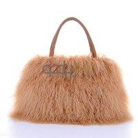 Women Genuine Tibet Sheep Fur Shoulder Bags Women Handbag Tote Bags Free Shipping QD5815