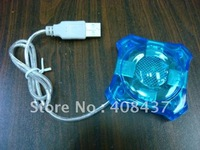 free shipping 4 Port Usb Hub, Mini ufo usb 1.1 hub 164, Extended 4 ports usb hub in flower shape