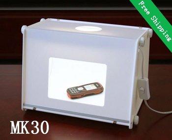 Wholesale 5pcs/lot Professional Mini photo studio Cube Light Box Soft Box MK30 for Product Catalog Photography 310*225*230mm