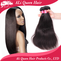 Queen hair products 5A Unprocessed mixed length 3pcs lot,brazilian straight hair extenstions No Shedding No Tangle free shipping