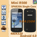 Cheap Support Russian Language MINI I9300 android phone SP6820A 1.0GHz OS 4.0 3.5&quot; Dual sim wifi N9300 smart phone free shipping