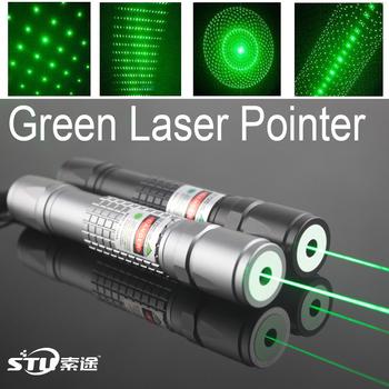 Free shipping,Focus Adjustable 532nm 100mW High power green laser pointer green beam laser pointer