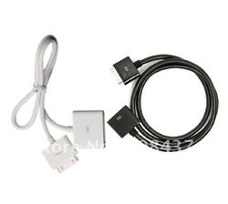 free shipping Brand New 3pcs/lot for ipad2 extension cable, for iPhone 3GS 4 4s White Black Cord Connector Male to Female(China (Mainland))