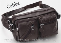 EMS Free Shipping NEW Fashion  Style  Leather Fanny  Men waist Pack Belt Travel Bags 3017