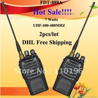 DHL Free Shipping Long Distance FDT-889A 7 Watts Cheapest Two Way Radio