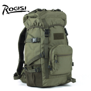 ROGISI Outdoor Camping backpack45L Women Men Army Waterproof Camping Backpack+Computer Compartment Size:34*24*57CM  2KG