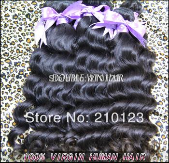 100% Human hair Malaysian virgin hair natural wavy 12inch-32inch 100% human hair 100g 1pc/lot