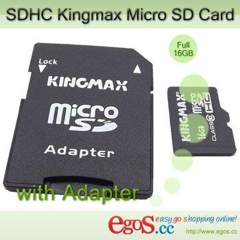 Kingmax Micro SD Card 4/8/16/32/64GB Class 10 SDHC Card with Full Capacity+ Waterproof + Adapter #2111