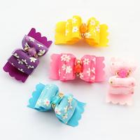 dreambows 22009 Handmade Flower Pattern Ribbon Dog Bow Pet  Show Supplies