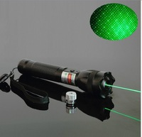 OXLasers OX-GL1 Focusalbe 200mW green laser pointer flashlight with  key and star cap + twinkle SOS  function  free shipping