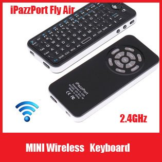 Free Shipping 4 in 1 iPazzPort 2.4GHz Mini Fly Air Mouse Wireless Keyboard with IR Remote QWERTY Keyboard+Retail Box