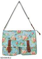 2 Colors Free shipping 2014  Vintage Print Fashion Floral Handbag Ladies Bag Women Shoulder Bags QQ1006