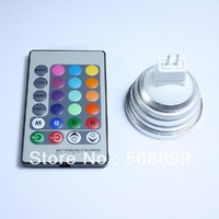 Freeshipping  RGB LED light 3W with remote controller decoration light    Base: MR16 +Dropshipping