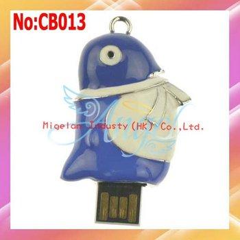 Wholesale! 1GB 2GB 4GB 8GB 16GB 32GB 64GB USB Flash Drive, Penguin style USB Flash Drive #CB013