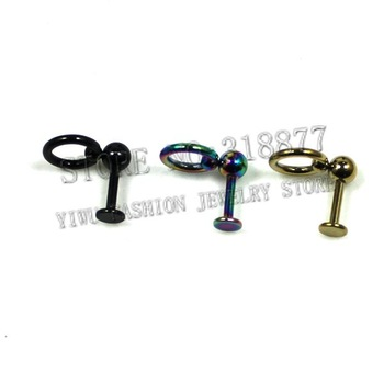 316L Nose Jewelry Free Shipping wholesaler body jewelry titanium plated