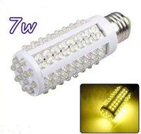 Free Shipping!Ultra bright LED Bulb 7W E27 220V Cold White light LED lamp with 108 led 360 degree