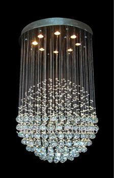 JEZZ LIGHITNG/FREE SHPPING+LED BULB 4W/BALL/GLOBAL/EARTH/ROUND/DESIGN/K9 CRYSTAL/CHANDELIER LIGHT/LIGHTING/LAMP/110-240V/LARGE