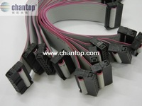 Free Shipping LED display 16Pin connect hub cables flat signal transmit data line adapter 17cm length