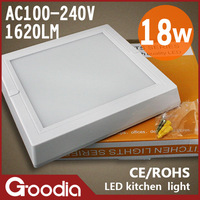square 18w indoor led panel,AC100-240V,CE&ROHS,white shell,18w  indoor led displays,2 year warranty,free shipping