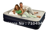 Free DHL Shipping INTEX 67736 queen size inflatable air bed with rest pillow, Intex queen size air mattress/bed