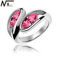 MT JEWELRY Free Shipping 100% NEW Hot Sales Crystal Fashion Costume Ring
