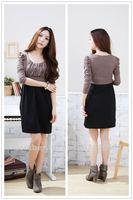 Free shipping  size women XL XXL XXXL XXXXL 2014 summer new fashion Colorful   Large size ladies knee-Length  Women  Dresses
