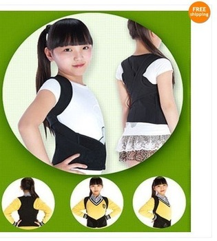 Prevent bow-backed  Children's U9  BABAKA Correct Posture Corrector Vest Braces Back Support Belt free shipping
