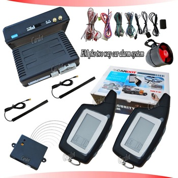 The Latest Hot Selling PKE two way car alarm system,hopping code design,remote start,back up battery siren,ultrasonic sensor!